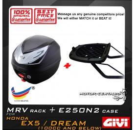 GIVI E250N2 TOP CASE + GIVI HONDA EX5 MV MONORACK