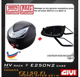 GIVI E250N2 TOP CASE + GIVI YAMAHA FZ150 FI 2014 MV MONORACK