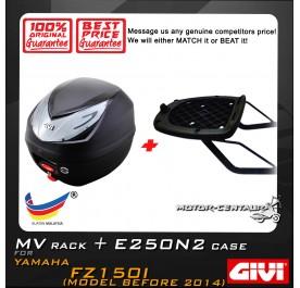 GIVI E250N2 TOP CASE + GIVI YAMAHA FZ150I MV MONORACK