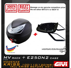 GIVI E250N2 TOP CASE + GIVI MODENAS KRISS 110 / 120/ MR1 MV MONORACK