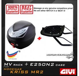 GIVI E250N2 TOP CASE + GIVI MODENAS KRISS MR2 MV MONORACK