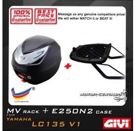 GIVI E250N2 TOP CASE + GIVI YAMAHA LC135 V1 MV MONORACK