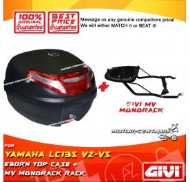GIVI E30RN TOP CASE + GIVI YAMAHA LC135 V2 MV MONORACK