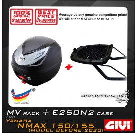 GIVI E250N2 TOP CASE + GIVI YAMAHA NMAX 150 / 155 MV MONORACK