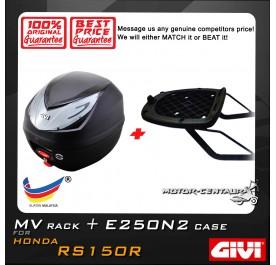 GIVI E250N2 TOP CASE + GIVI HONDA RS150R MV MONORACK