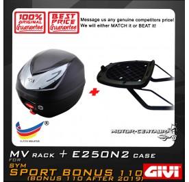 GIVI E250N2 TOP CASE + GIVI SYM SPORT BONUS 110 MV MONORACK