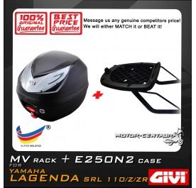 GIVI E250N2 TOP CASE + GIVI YAMAHA LAGENDA SRL 110 / 110Z / 110ZR