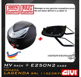 GIVI E250N2 TOP CASE + GIVI YAMAHA LAGENDA SRL 115Z / ZR / ZR FI MV MONORACK