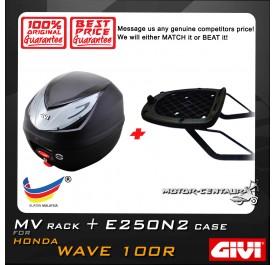 GIVI E250N2 TOP CASE + GIVI HONDA WAVE 100R MV MONORACK