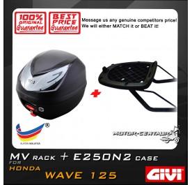 GIVI E250N2 TOP CASE + GIVI HONDA WAVE 125 MV MONORACK