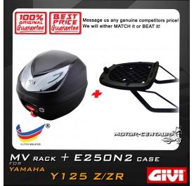 GIVI E250N2 TOP CASE + GIVI YAMAHA Y125Z / ZR MV MONORACK