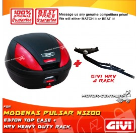 GIVI E370N TOP CASE + GIVI MODENAS PULSAR NS200 / NS160 HRV HEAVY DUTY RACK