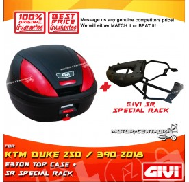 GIVI E370N TOP CASE + GIVI KTM DUKE 250 / 390 2018 SRV SPECIAL RACK