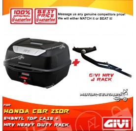 GIVI E43NTL TOP CASE + GIVI HONDA CBR 250R HRV HEAVY DUTY RACK
