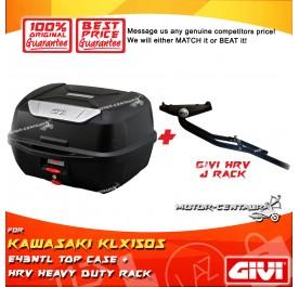 GIVI E43NTL TOP CASE + GIVI KAWASAKI KLX150S HRV HEAVY DUTY RACK