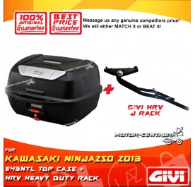 GIVI E43NTL TOP CASE + GIVI KAWASAKI NINJA250 2013 HRV HEAVY DUTY RACK