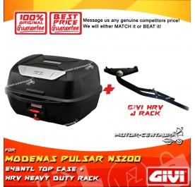 GIVI E43NTL TOP CASE + GIVI MODENAS PULSAR NS200 HRV HEAVY DUTY RACK