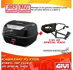 GIVI E43NTL TOP CASE + GIVI KAWASAKI KLX150L SRV SPECIAL RACK