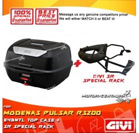 GIVI E43NTL TOP CASE + GIVI MODENAS PULSAR RS200 SRV SPECIAL RACK