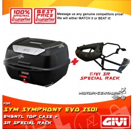 GIVI E43NTL TOP CASE + GIVI SYM SYMPHONY EVO 250I SRV SPECIAL RACK