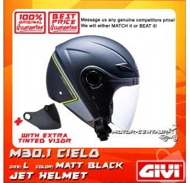 GIVI JET HELMET M30.1 CIELO L MATT BLACK + TINTED VISOR