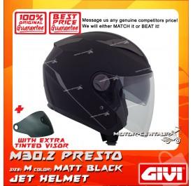GIVI JET HELMET M30.2 PRESTO M MATT BLACK + TINTED VISOR