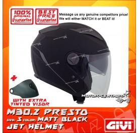 GIVI JET HELMET M30.2 PRESTO S MATT BLACK + TINTED VISOR