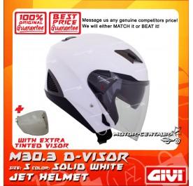 GIVI JET HELMET M30.3 D-VISOR S SOLID WHITE + TINTED VISOR