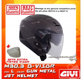 GIVI JET HELMET M30.3 D-VISOR L GUN METAL + TINTED VISOR