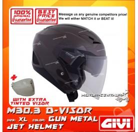GIVI JET HELMET M30.3 D-VISOR XL GUN METAL + TINTED VISOR