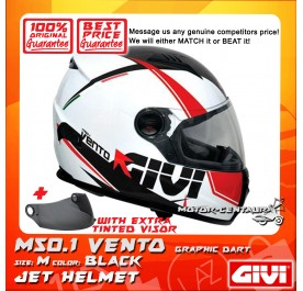 GIVI FULL FACE HELMET M50.1 VENTO M GRAPHIC DART BLACK + TINTED VISOR
