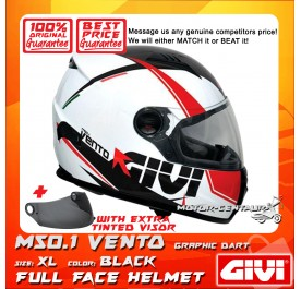 GIVI FULL FACE HELMET M50.1 VENTO XL GRAPHIC DART BLACK + TINTED VISOR