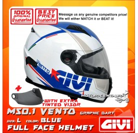 GIVI FULL FACE HELMET M50.1 VENTO L GRAPHIC DART BLUE + TINTED VISOR