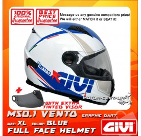GIVI FULL FACE HELMET M50.1 VENTO XL GRAPHIC DART BLUE + TINTED VISOR