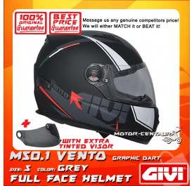 GIVI FULL FACE HELMET M50.1 VENTO S GRAPHIC DART GREY + TINTED VISOR