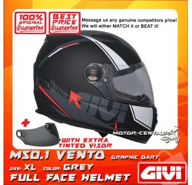 GIVI FULL FACE HELMET M50.1 VENTO XL GRAPHIC DART GREY + TINTED VISOR