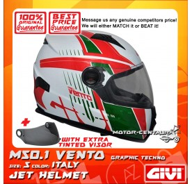 GIVI FULL FACE HELMET M50.1 VENTO S GRAPHIC TECHNO ITALY + TINTED VISOR