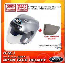 KHI HELMET K12.1 GREY L + TINTED VISOR