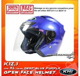 KHI HELMET K12.1 DEEP BLUE PURPLE XL + TINTED VISOR