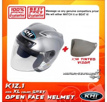 KHI HELMET K12.1 GREY XL + TINTED VISOR