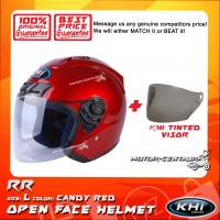 KHI HELMET RR CANDY RED L + TINTED VISOR
