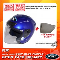 KHI HELMET RR DEEP BLUE PURPLE L + TINTED VISOR