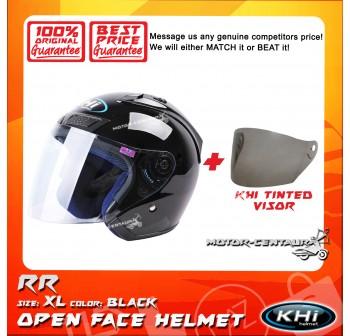 KHI HELMET RR BLACK XL + TINTED VISOR
