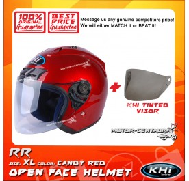 KHI HELMET RR CANDY RED XL + TINTED VISOR