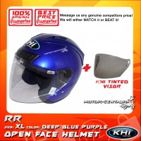 KHI HELMET RR DEEP BLUE PURPLE XL + TINTED VISOR
