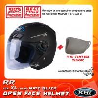 KHI HELMET RR MATT BLACK XL + TINTED VISOR