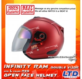 LTD HELMET INFINITY RAM DOUBLE VISORS RED