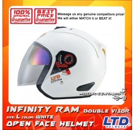 LTD HELMET INFINITY RAM DOUBLE VISORS WHITE