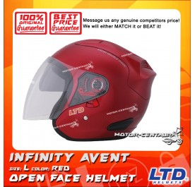 LTD HELMET INFINITY AVENT DOUBLE VISORS RED