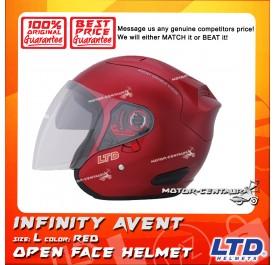LTD HELMET INFINITY AVENT DOUBLE VISORS RED
